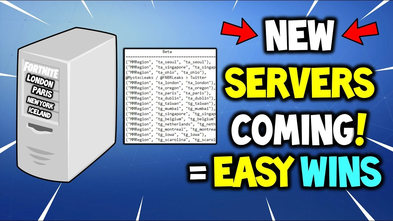 FORTNITE *NEW* SERVERS = EASY WINS! (New Server are Coming to Fix Lag and  Local Tournaments?)