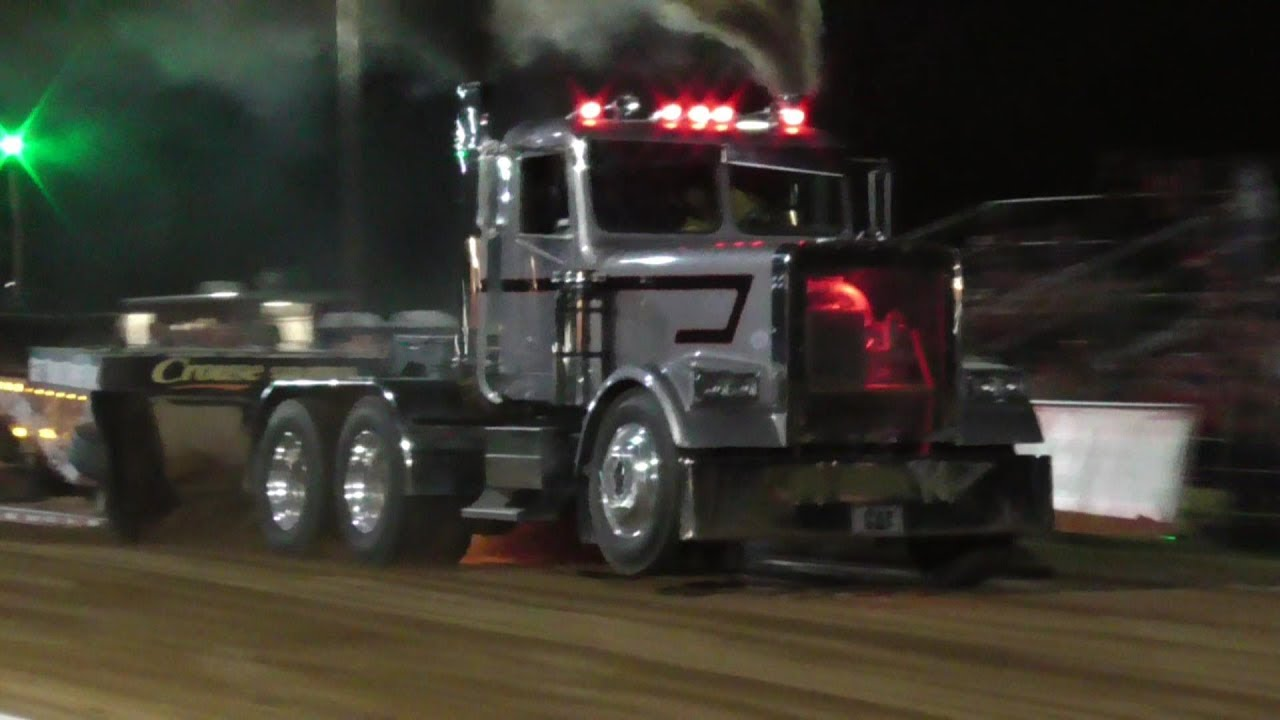 Lucas Oil Pro Stock Semi Trucks Pulling At Greensboro