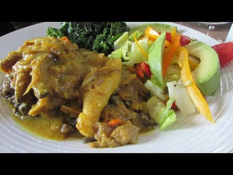 Vegan Jamaican Curried Mutton w/ Wild Rice and Peas