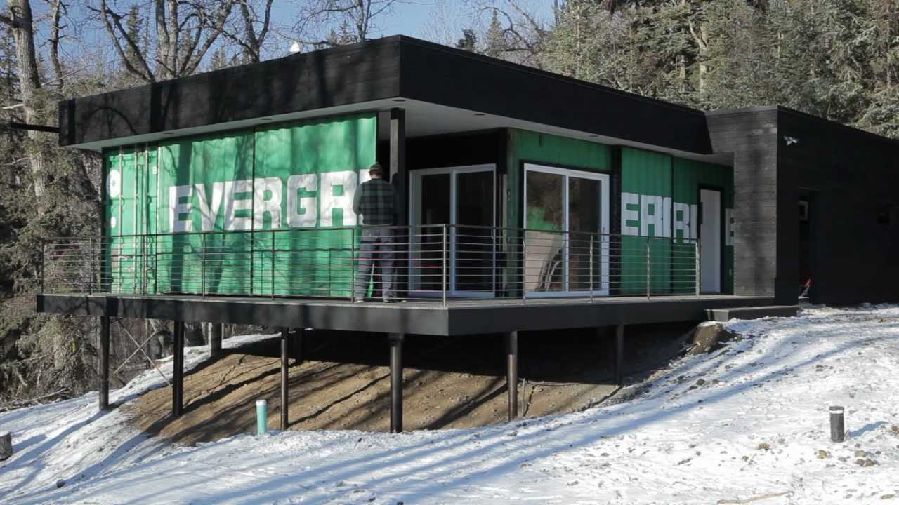 shipping container cabin - youtube
