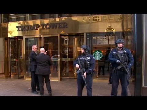 Secret Service works to secure Trump Tower