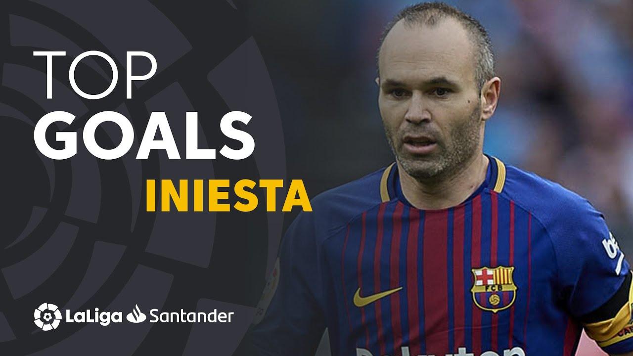 TOP 10 GOALS LaLiga Andrés Iniesta