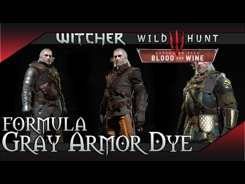 The Witcher 3 Blood and Wine - Gray Armor Dye Formula Location Guide