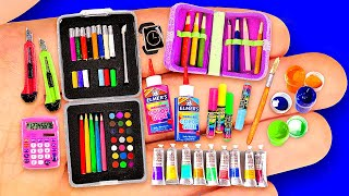 26 DIY MINIATURE SCHOOL SUPPLIES IDEAS ~ BIG COLLECTION OF MINIATURES