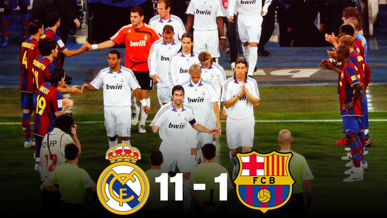 The Day Real Madrid Beat Barcelona 11 1 Oh My Goal Youtube