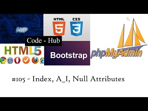 Phpmyadmin #105 What Are Index, A_I, Null In Phpmyadmin