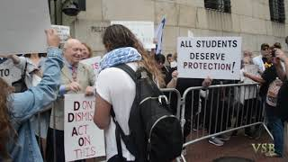 Chants at protest against Columbia University's blatant anti-semitism