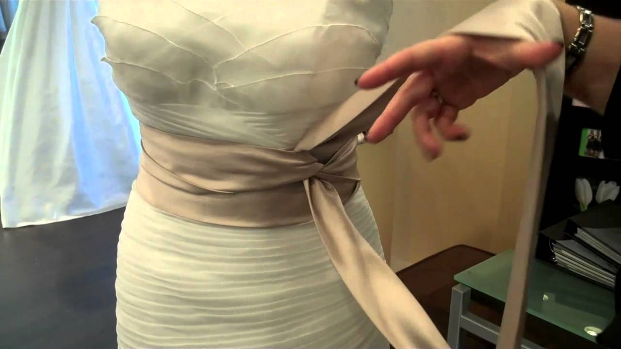 How To Tie A Sash On Your Wedding Dress Youtube