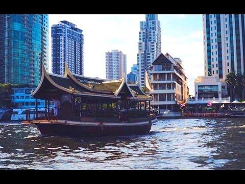 Chao Phraya River Boat Tour - Bangkok, Thailand 2017 HD