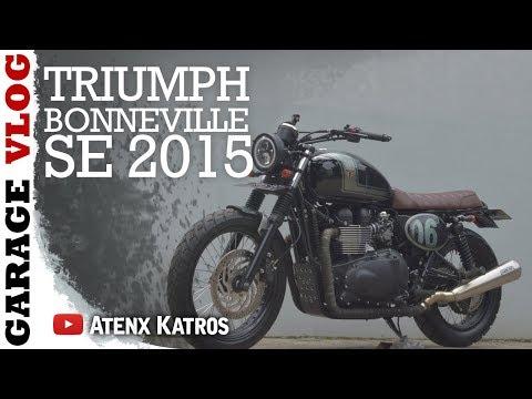 TRIUMPH BONNEVILLE CUSTOM [Garage Vlog]