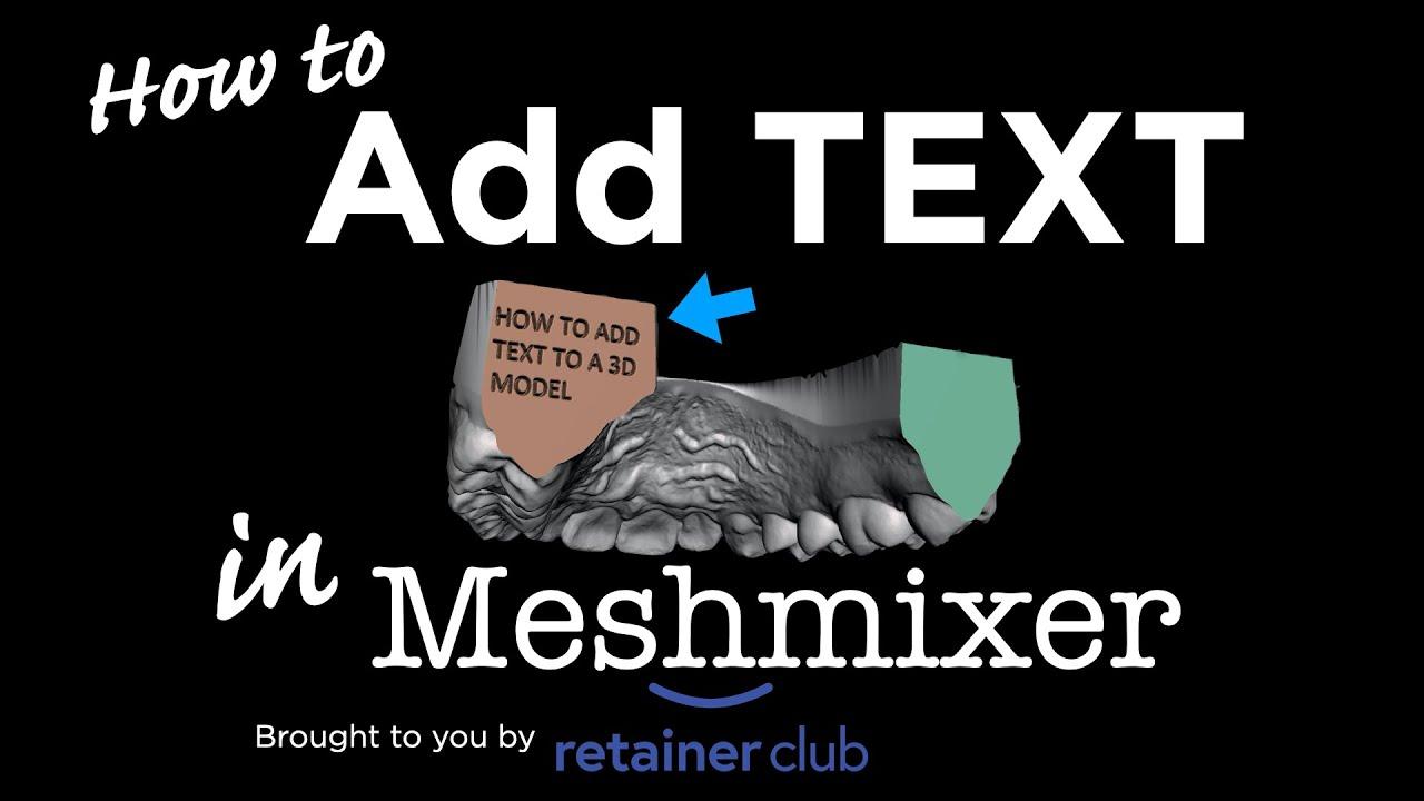 How to Add text to A Model in Meshmixer - Смотреть видео бесплатно