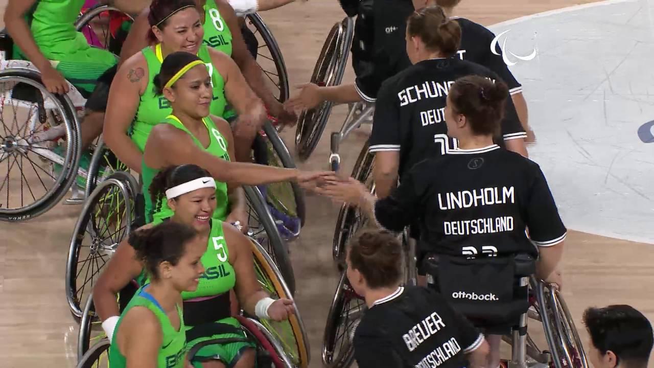 wheelchair basketball germany vs brazil women s preliminaries