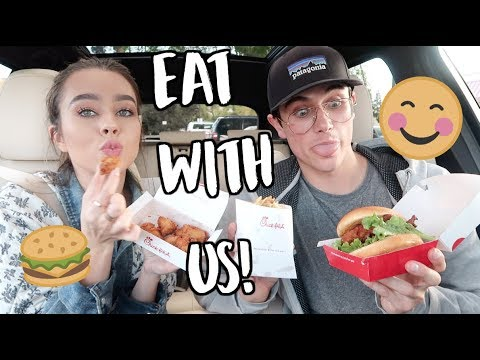 EAT WITH US! CHICK-FIL-A DRIVE THRU!