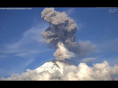 Pablo - Popocatepetl Volcano's Double Explosion