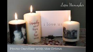 Photo Candles with the Cricut
