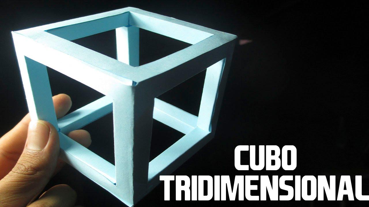 Como Hacer un Cubo de Papel Tridimensional│PROYECTOS ...