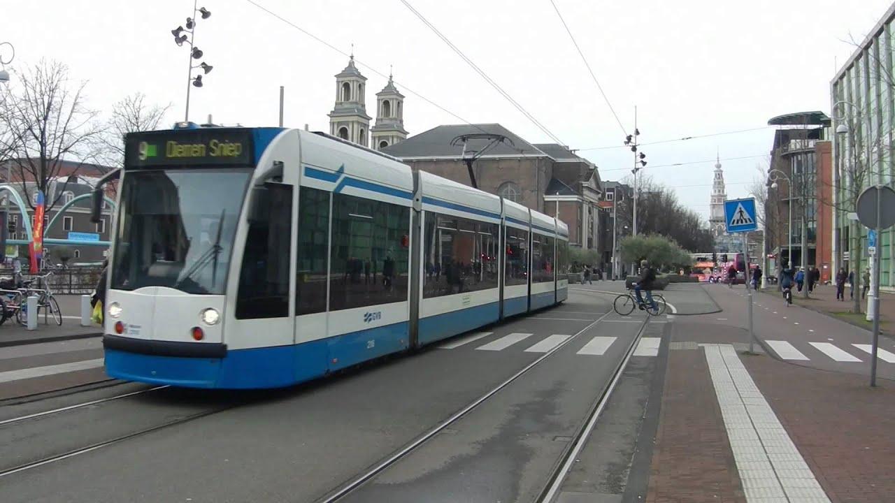 gvb siemens combino trams centrum amsterdam youtube