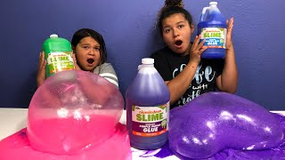 HOW TO MAKE SLIME WITH THE NEW NICKELODEON SLIME GLUE