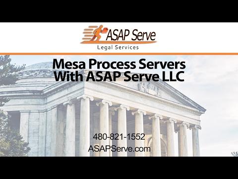 Mesa Process Servers with ASAP Serve LLC