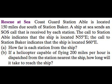 Rescue at Sea from a Coast Guard Station