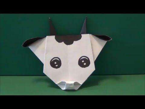 Easy Cow Origami