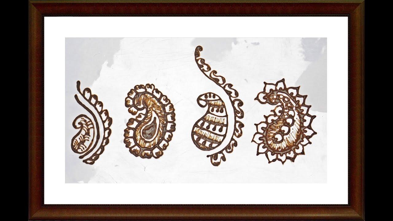Easy Tutorial On Henna Design | How To Make Mango Shapes | Henna ...
