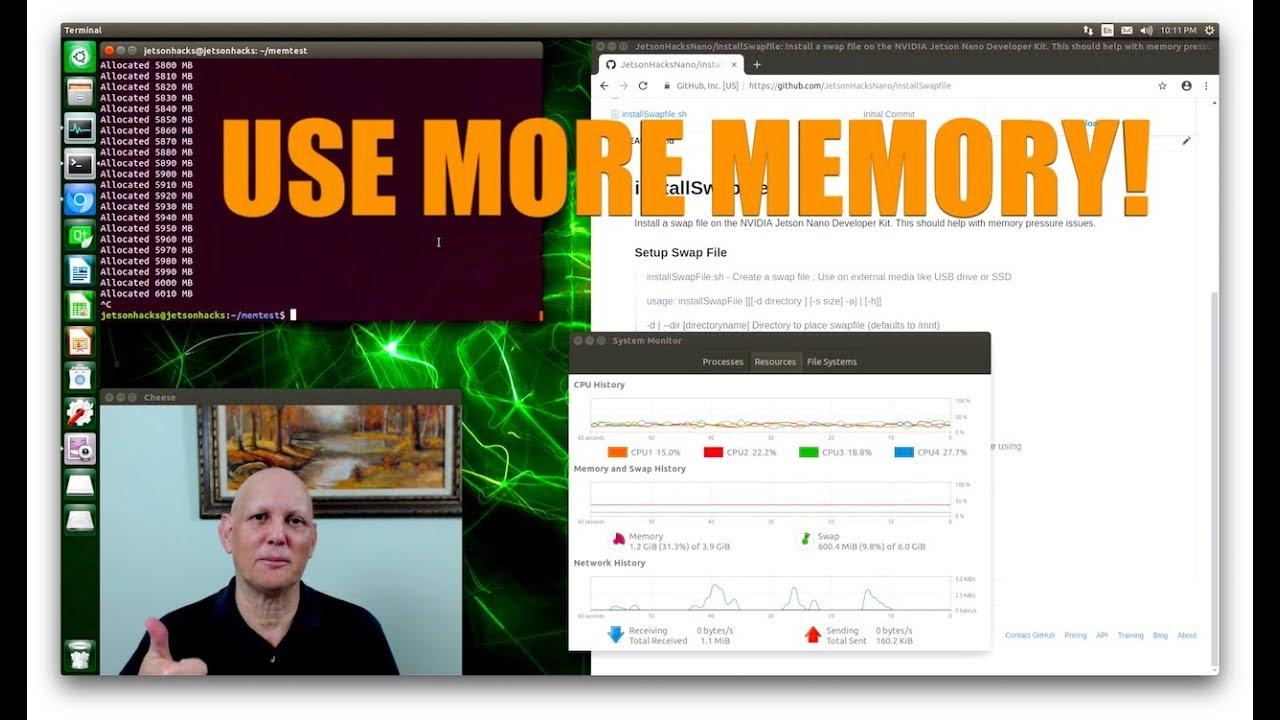 Jetson Nano - Use More Memory! - JetsonHacks