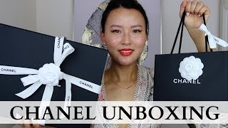 CHANEL unboxing | Chanel Reissue 225 and earrings unboxing