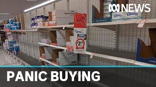 Bizarre coronavirus reactions lead to empty shelves | ABC News