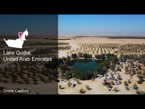 United Arab Emirates Lake Qudra Drone - Drone (MAVIC PRO) 4K shot -
