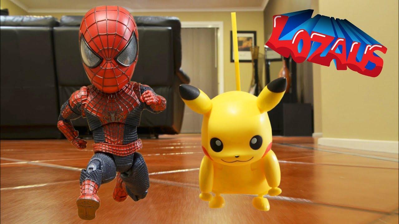 BABY SPIDERMAN Stop Motion Trailer with Pikachu & Venom ...