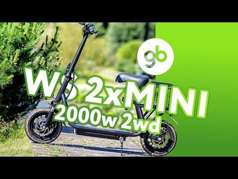 WS-2xMINI 2000W 2WD - Cамый доступный электросамокат с полным приводом из коллекции WS-ELECTRO
