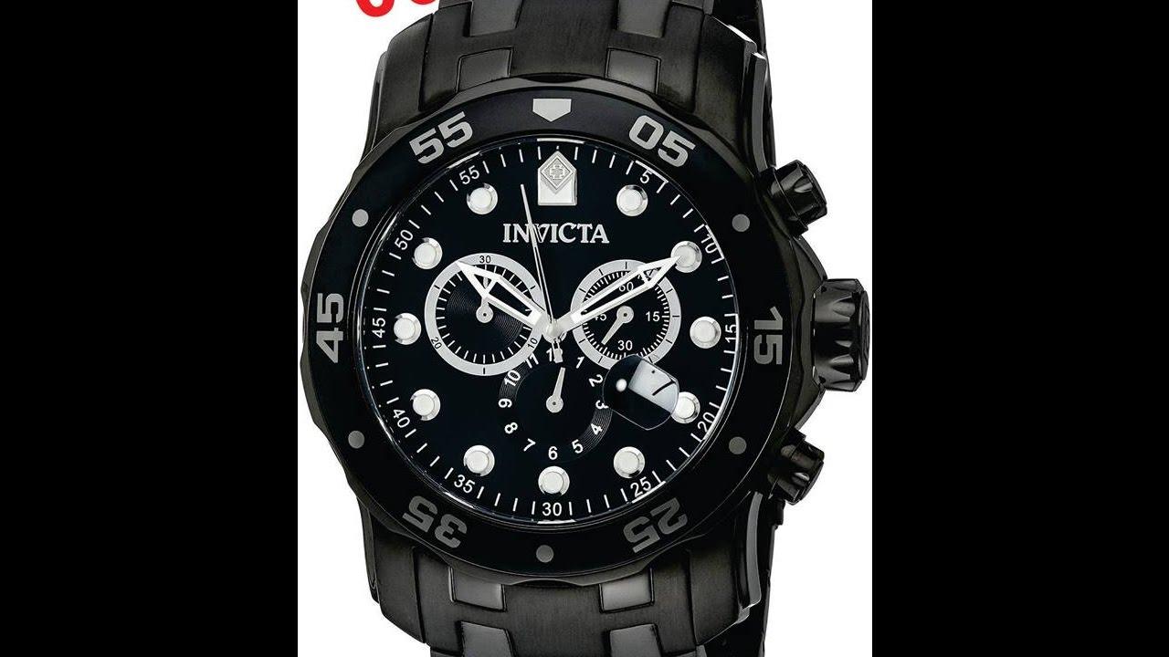d3512946390 Relógio Invicta Pro Diver 0076 - Preto - YouTube