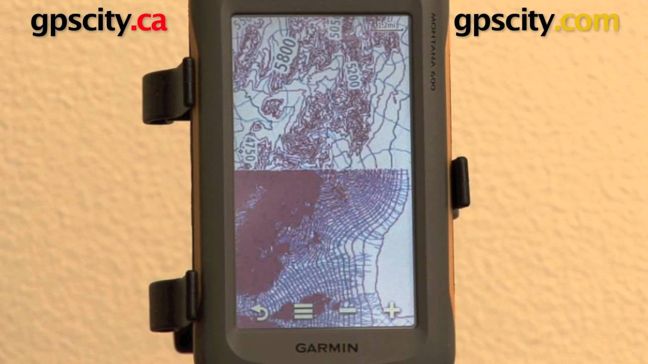 Garmin Montana 600 650 650t Topographic Map View At Gpscity Com Youtube