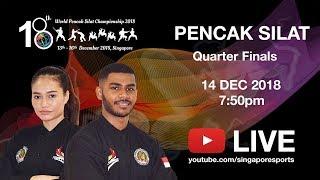 Pencak Silat Match Quarter - Finals (Day 2 Arena 1) | 18th World Pencak Silat Championship 2018