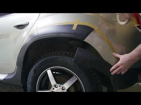 Установка накладок на арки Renault Duster | Installation of overlays on Renault Duster arches
