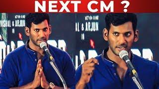 FULL HD: Vishal Next CM? | Vishal's answer for it | Irumbuthirai Audio Launch | KS 35