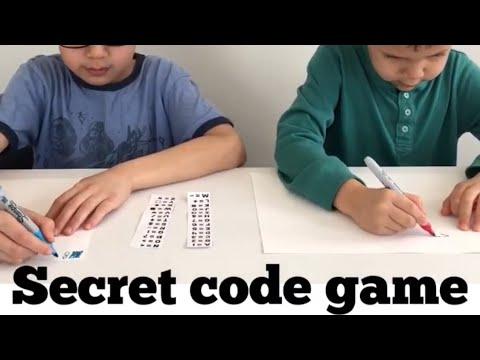 Secret code game - fun rainy day game for kids age 6-8