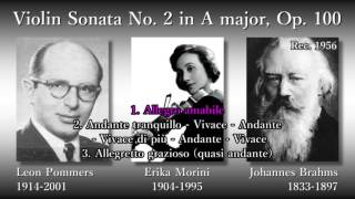 Brahms: Violin Sonata No. 2, Morini & Pommers (1956) ブラームス ヴァイオリンソナタ第2番 モリーニ&ポマーズ