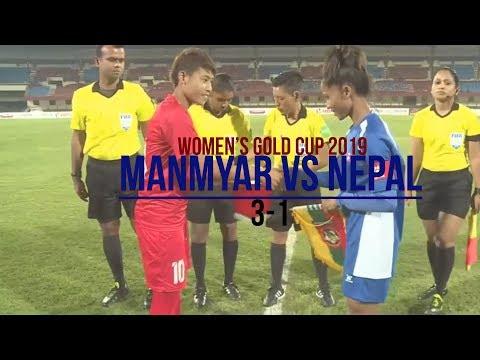 Nepal vs Myanmar Women 1-3 Highlights ALL GOALS | Hero Women's gold cup final