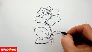 Как Нарисовать Розу поэтапно | Рисование для начинающих | Цветы(Как рисовать розу (цветы). В этом видео я показываю как нарисовать цветок розу карандашом (ручкой, лайнером,..., 2016-08-17T15:23:56.000Z)