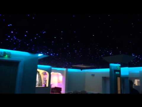 Starscape Fibre Optic Star Ceiling Panels In Navy Blue
