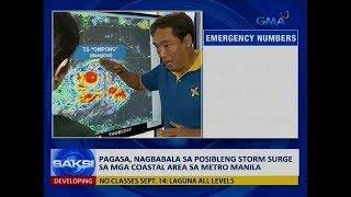 Saksi: PAGASA, nagbabala sa posibleng storm surge sa mga coastal area sa Metro Manila