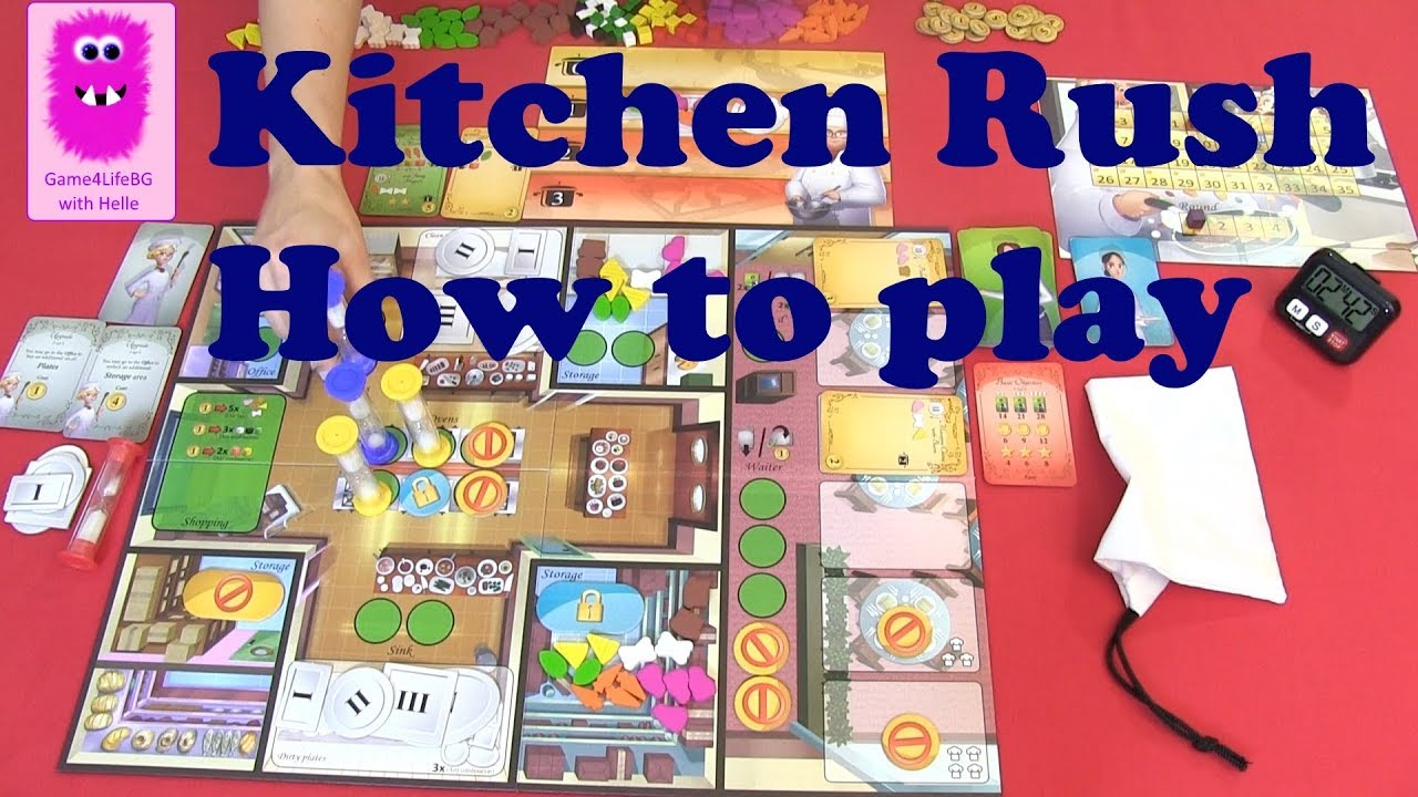 Kitchen rush how to play in english cooperative board game