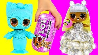 LOL SURPRISE DOLL DRESS UP 👰 Making Play Doh Wedding Dress for LOL Doll