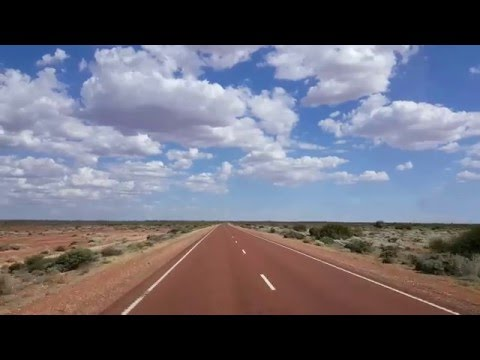 Driving in the Outback, Australia