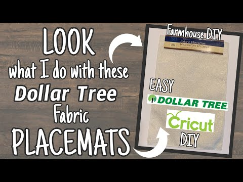 LOOK What I Do With These Dollar Tree PLACEMATS | EASY Dollar Tree Cricut DIY