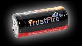 Сравнение аккумуляторов 16340 TrustFire, Soshine