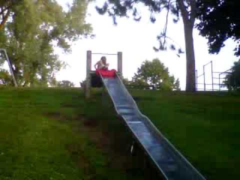 Sliding at Tarrant Park, Durand, WI
