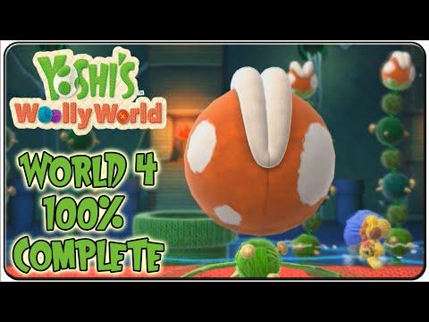 Yoshi's Woolly World Walkthrough Part 4 World 4